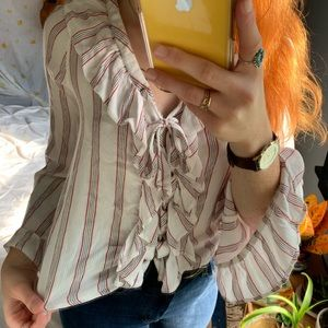 American Eagle Outfitters Tops - American Eagle bat wing boho tie front top